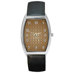 Background Seamless Repetition Barrel Style Metal Watch