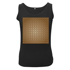 Background Seamless Repetition Women s Black Tank Top