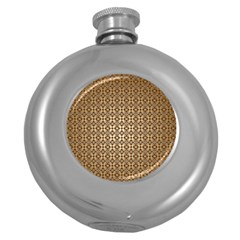 Background Seamless Repetition Round Hip Flask (5 Oz)