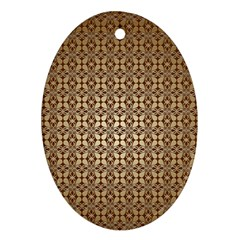Background Seamless Repetition Oval Ornament (two Sides)