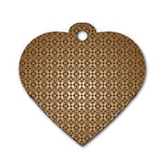 Background Seamless Repetition Dog Tag Heart (two Sides)