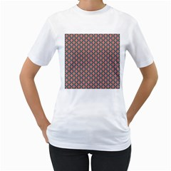 Background Pattern Texture Women s T Shirt (white) (two Sided)