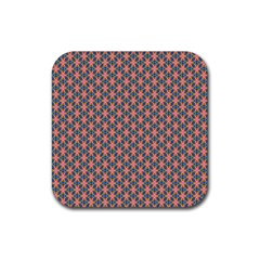 Background Pattern Texture Rubber Square Coaster (4 pack)