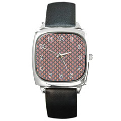 Background Pattern Texture Square Metal Watch