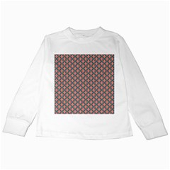 Background Pattern Texture Kids Long Sleeve T Shirts