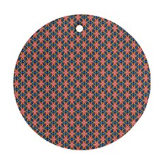Background Pattern Texture Round Ornament (Two Sides)