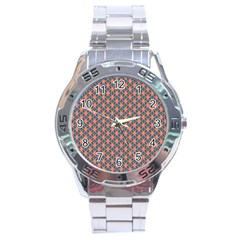 Background Pattern Texture Stainless Steel Analogue Watch