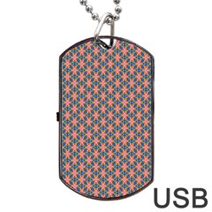 Background Pattern Texture Dog Tag Usb Flash (one Side)