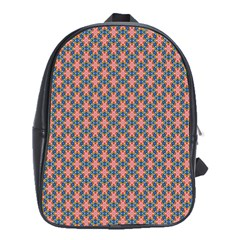 Background Pattern Texture School Bags (xl)