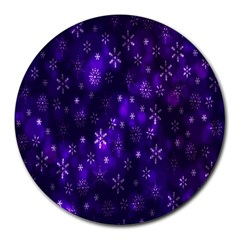 Bokeh Background Texture Stars Round Mousepads