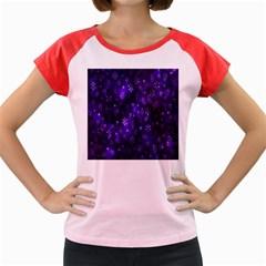 Bokeh Background Texture Stars Women s Cap Sleeve T Shirt