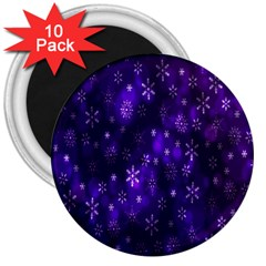 Bokeh Background Texture Stars 3  Magnets (10 Pack)