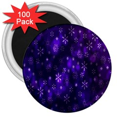 Bokeh Background Texture Stars 3  Magnets (100 Pack)