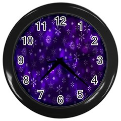 Bokeh Background Texture Stars Wall Clocks (black)