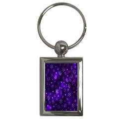Bokeh Background Texture Stars Key Chains (rectangle)