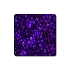 Bokeh Background Texture Stars Square Magnet