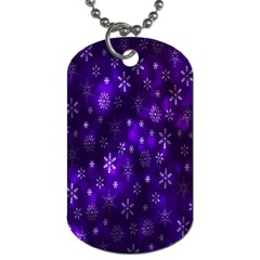 Bokeh Background Texture Stars Dog Tag (two Sides)