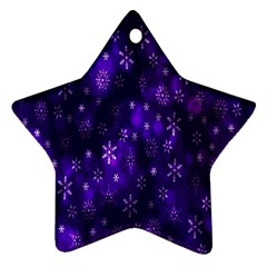 Bokeh Background Texture Stars Star Ornament (Two Sides)