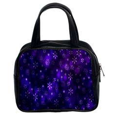Bokeh Background Texture Stars Classic Handbags (2 Sides)