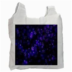 Bokeh Background Texture Stars Recycle Bag (two Side)