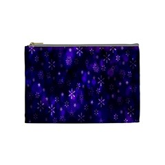 Bokeh Background Texture Stars Cosmetic Bag (Medium)