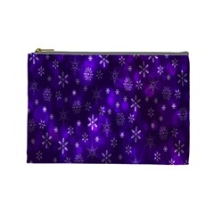 Bokeh Background Texture Stars Cosmetic Bag (large)