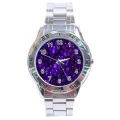 Bokeh Background Texture Stars Stainless Steel Analogue Watch