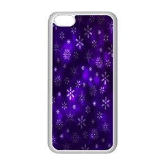 Bokeh Background Texture Stars Apple Iphone 5c Seamless Case (white)