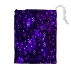 Bokeh Background Texture Stars Drawstring Pouches (extra Large)