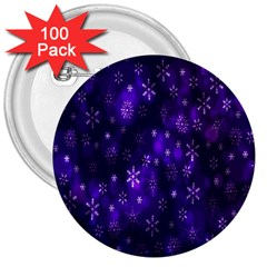 Bokeh Background Texture Stars 3  Buttons (100 Pack)
