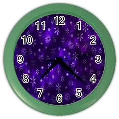 Bokeh Background Texture Stars Color Wall Clocks