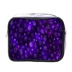 Bokeh Background Texture Stars Mini Toiletries Bags