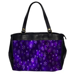 Bokeh Background Texture Stars Office Handbags (2 Sides)
