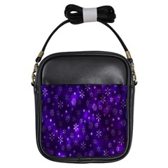 Bokeh Background Texture Stars Girls Sling Bags