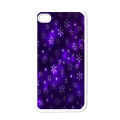 Bokeh Background Texture Stars Apple Iphone 4 Case (white)