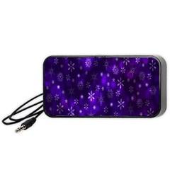 Bokeh Background Texture Stars Portable Speaker (black)