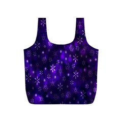 Bokeh Background Texture Stars Full Print Recycle Bags (s)