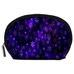 Bokeh Background Texture Stars Accessory Pouches (large)