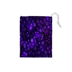 Bokeh Background Texture Stars Drawstring Pouches (small)