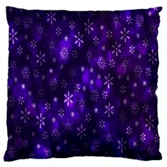 Bokeh Background Texture Stars Large Flano Cushion Case (one Side)