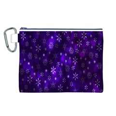 Bokeh Background Texture Stars Canvas Cosmetic Bag (l)