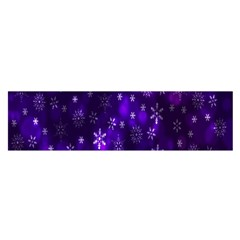 Bokeh Background Texture Stars Satin Scarf (oblong)