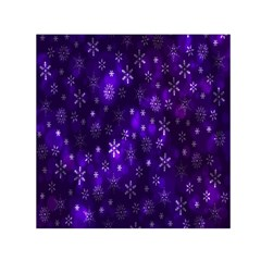 Bokeh Background Texture Stars Small Satin Scarf (square)