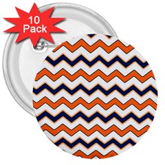 Chevron Party Pattern Stripes 3  Buttons (10 Pack)