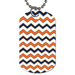 Chevron Party Pattern Stripes Dog Tag (One Side)