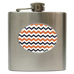 Chevron Party Pattern Stripes Hip Flask (6 Oz)