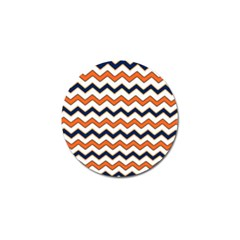Chevron Party Pattern Stripes Golf Ball Marker (4 pack)