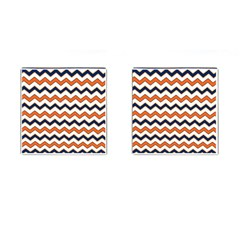 Chevron Party Pattern Stripes Cufflinks (square)