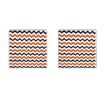 Chevron Party Pattern Stripes Cufflinks (Square) Front