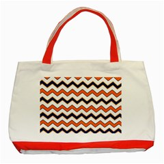 Chevron Party Pattern Stripes Classic Tote Bag (Red)